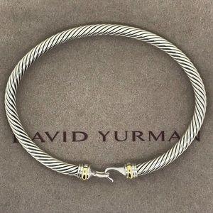 David Yurman 4mm Cable Buckle Bracelet & 18k Gold